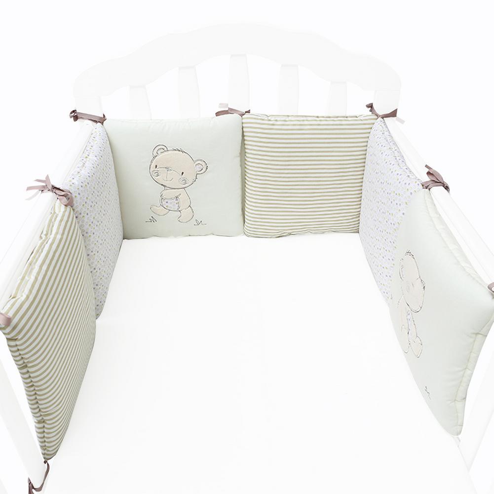 Новый 6 шт. детские кроватки лайнер Классический складной дышащий детская кровать бамперы анти-бампер кроватки боковая направляющая анти-Б...