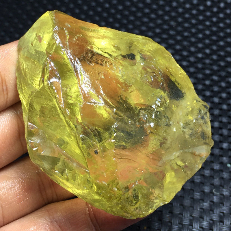 Topacio Natural de gran tamaño, citrina, minerales de piedra en bruto y piedras en bruto, espécimen de piedra preciosa Brasil 1 unidad