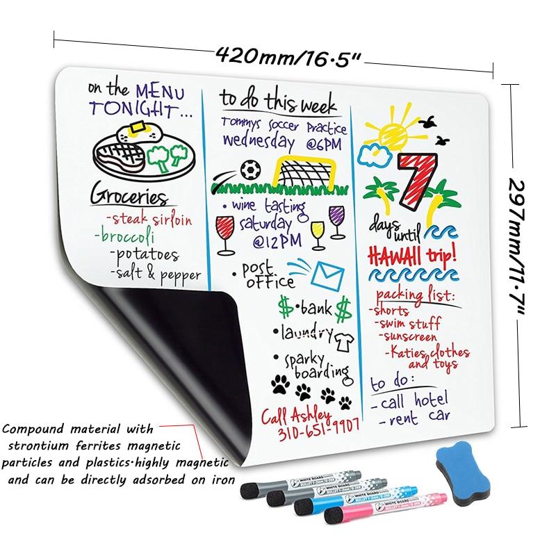 A3 Размеры магнитно-маркерная мягкая доска наклейки на холодильник со стирающимися чернилами сообщение практика написания магнит для памят...