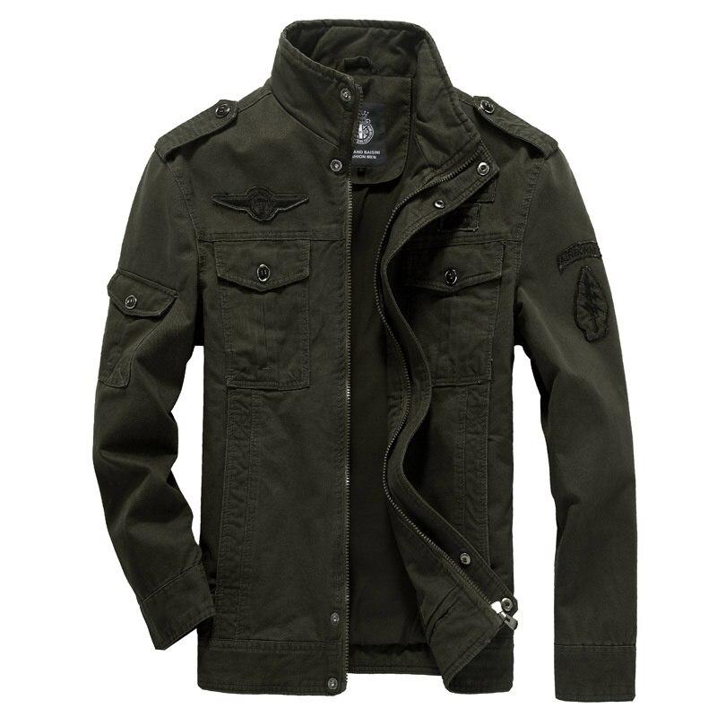 Мужская хлопковая куртка в стиле милитари, куртка большого размера в стиле милитари MA-1, осень 2021