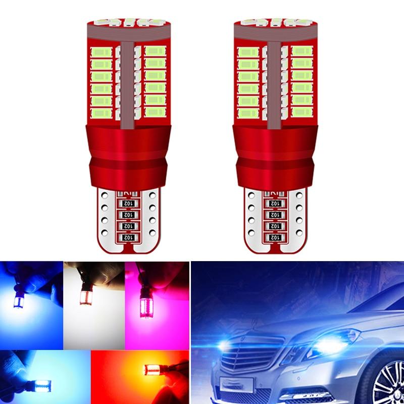 2x T10 168 192 W5W 57SMD 3014 lampa samochodowa LED Canbus nie błąd samochodowa lampa obrysowa lampa parkingowa silnika żarówka klinowa biały pomarańczowy czerwony niebieski