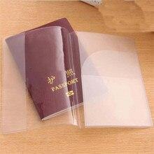 PVC โปร่งใสหนังสือเดินทางอุปกรณ์เสริมสำหรับเดินทางผู้หญิง ID กรณีธุรกิจ Pass พอร์ตกระเป๋าสตางค์...