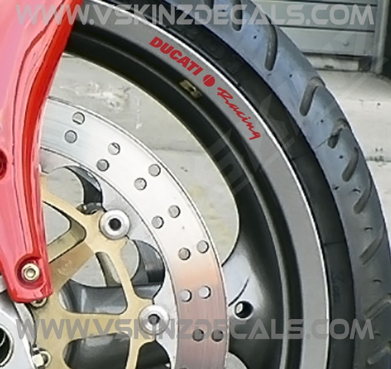 Für 8x Ducati Racing Alt Premium Cast Felge Abziehbilder Aufkleber Monster Panigale 916