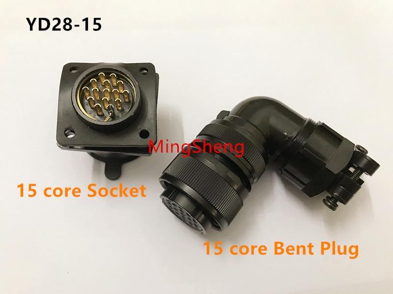 Original nuevo 100% YD28-15 YD28-4 conector impermeable aire macho servo motor