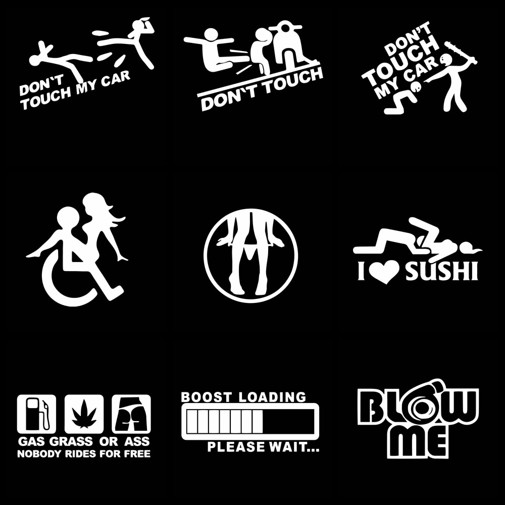 AliExpress - funny sticker Don't Touch My Car Stickers for Decals On Auto Window Car-Styling decor car decoration Accessories