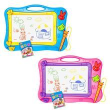Jouet éducatif coloré effaçable de tableau de peinture de dessin décriture de Doodle magnétique avec des timbres de 2 pièces pour des enfants denfants en bas âge