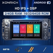 1Din Android 10 Auto Multimedia Für Jeep Grand Cherokee Chrysler 300C Kompass Patriot Dodge Sebring Radio GPS NavigationStereo4GB