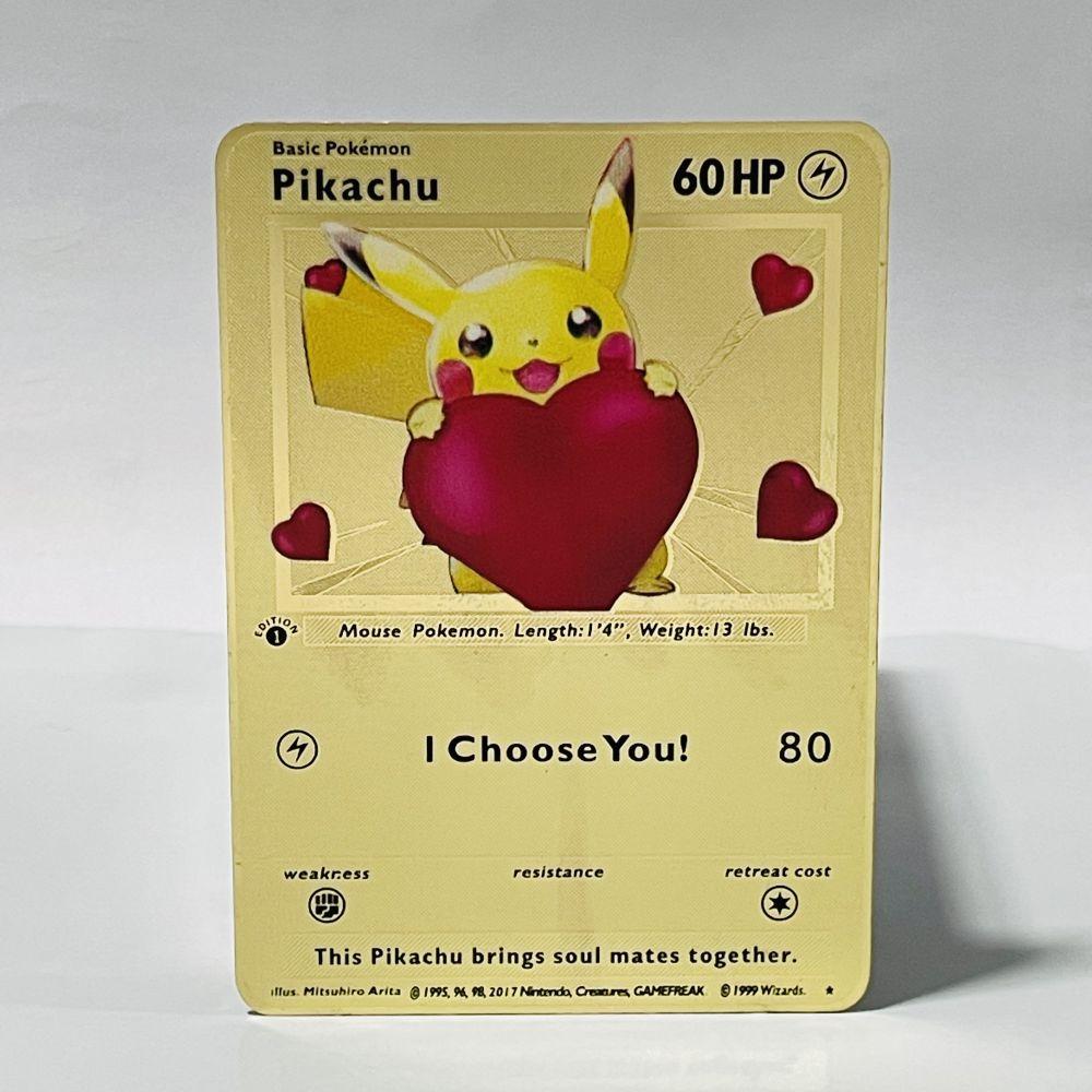 Новинка-блестящая-золотая-металлическая-карточка-pokemon-vmax-gx-Огненный-Дракон-игровая-этикетка-команды-«battle-a-la-carte»-детские-игрушки
