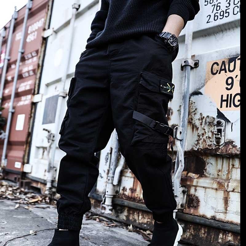 Men's new hip-hop overalls pocket jogging Harajuku sports pants wholesale casual fashion street boy sports pants
