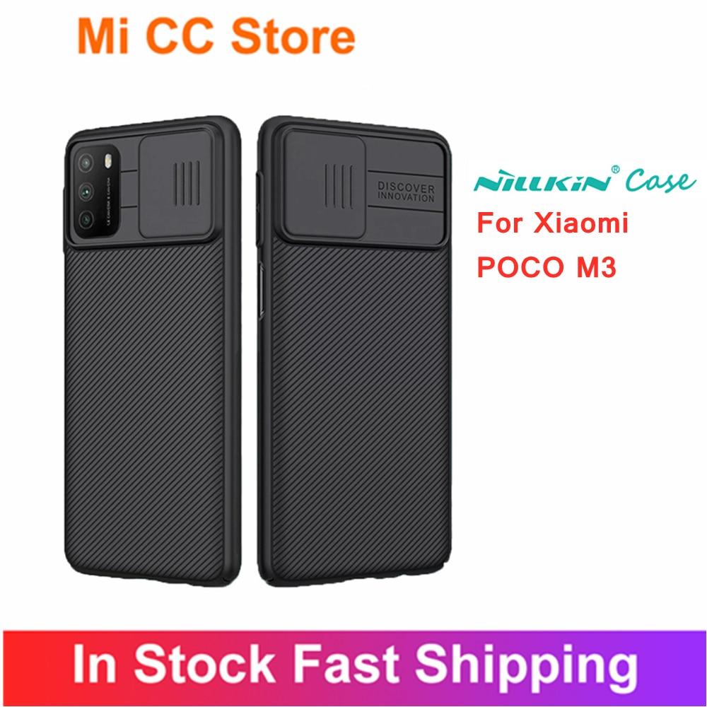 for Xiaomi POCO M3 NILLKIN Case poco m3 Cover Camera Protection Slide Cover Anti-knock Hard Back Bumper Cases