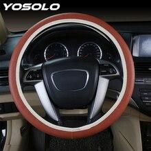 YOSOLO uniwersalny samochód DIY pokrowiec na kierownicę miękki PU LeatherCar pokrowiec na kierownicę akcesoria samochodowe do Ford Focus 2