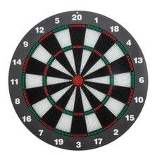 Dart Board 16,4 Zoll mit 6 Gummi Sicherheit Spitze Darts Dartscheibe Spiel Set Büro Entspannen Sport Familie Freizeit Zeit