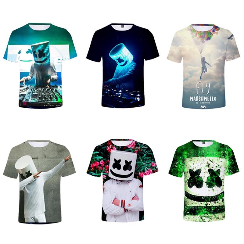 Eibisch 3D farbe druck kühle digitale druck kinder multi-farbe kinder kleidung kurzen ärmeln T-shirt