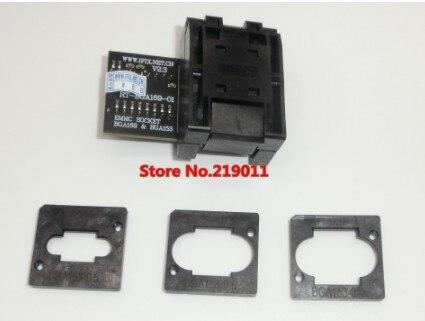 RT-BGA169-01 V2.3 EMMC Seat EMCP153 EMCP169 Socket BGA169 BGA153 EMMC ADAPTER 11,5*13 мм добавить еще 3 шт. матрица