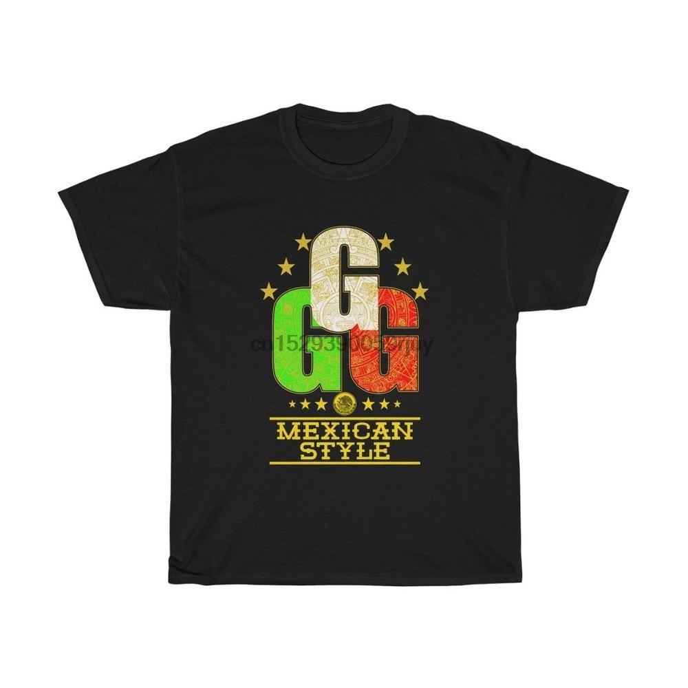 Gennady, GGG golovkin, triple G, partido de boxeo, canelo, camiseta de estilo mexicano, camiseta Unisex Algodón Pesado