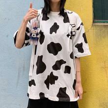Moda 2020, camiseta de leche para mujeres, Camiseta holgada de manga corta de verano de Hip Hop, bonita camiseta de Japón, ropa de calle, camisetas Kawaii para mujeres