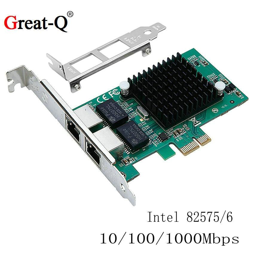 Pci Express Gigabit Ethernet Server network card PCIE  RJ45 Lan Card Diskless boot  intel82575 chip