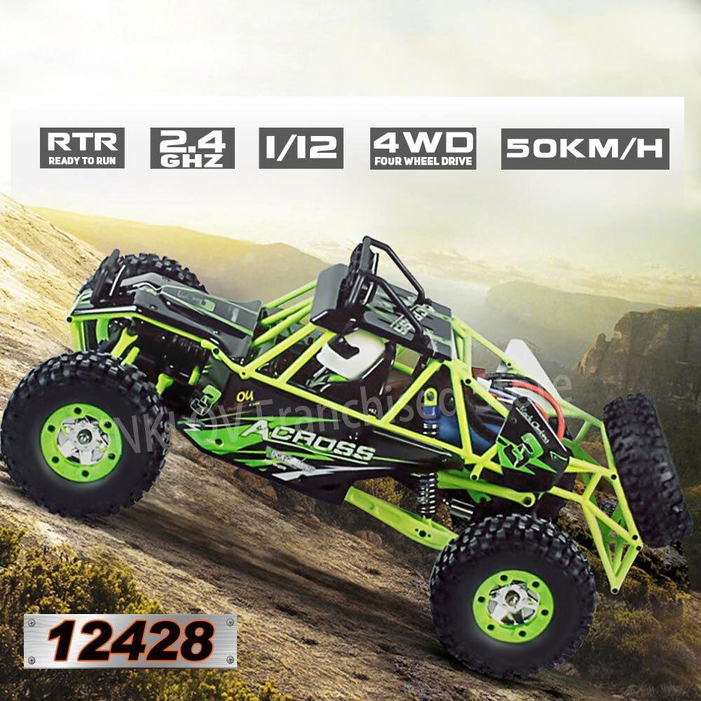 1:12 RC Car De Escalada 2,4G 4WD 50 KM/H Alta Velocidad Eléctrico Cepillado Crawler Vehículo Todoter  Wltoys Kids Toys For Boys
