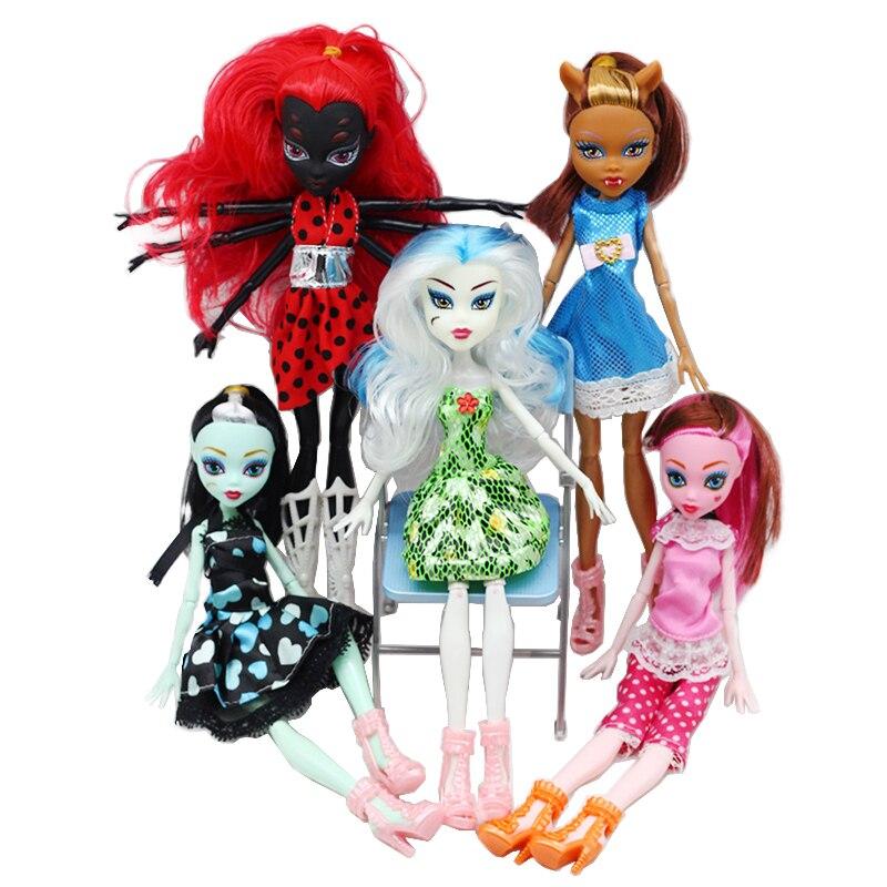 1 sztuk wysokiej jakości moda potwór lalki Draculaura/Clawdeen wilk czarny ruchome ciało dziewczyny zabawki