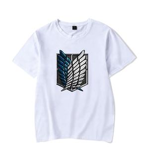 New Attack On Titan Anime T-shirts Cosplay Print Fashion Men Women T Shirts Tee Shirt Casual Short Sleeve O-neck t-shirt Tops