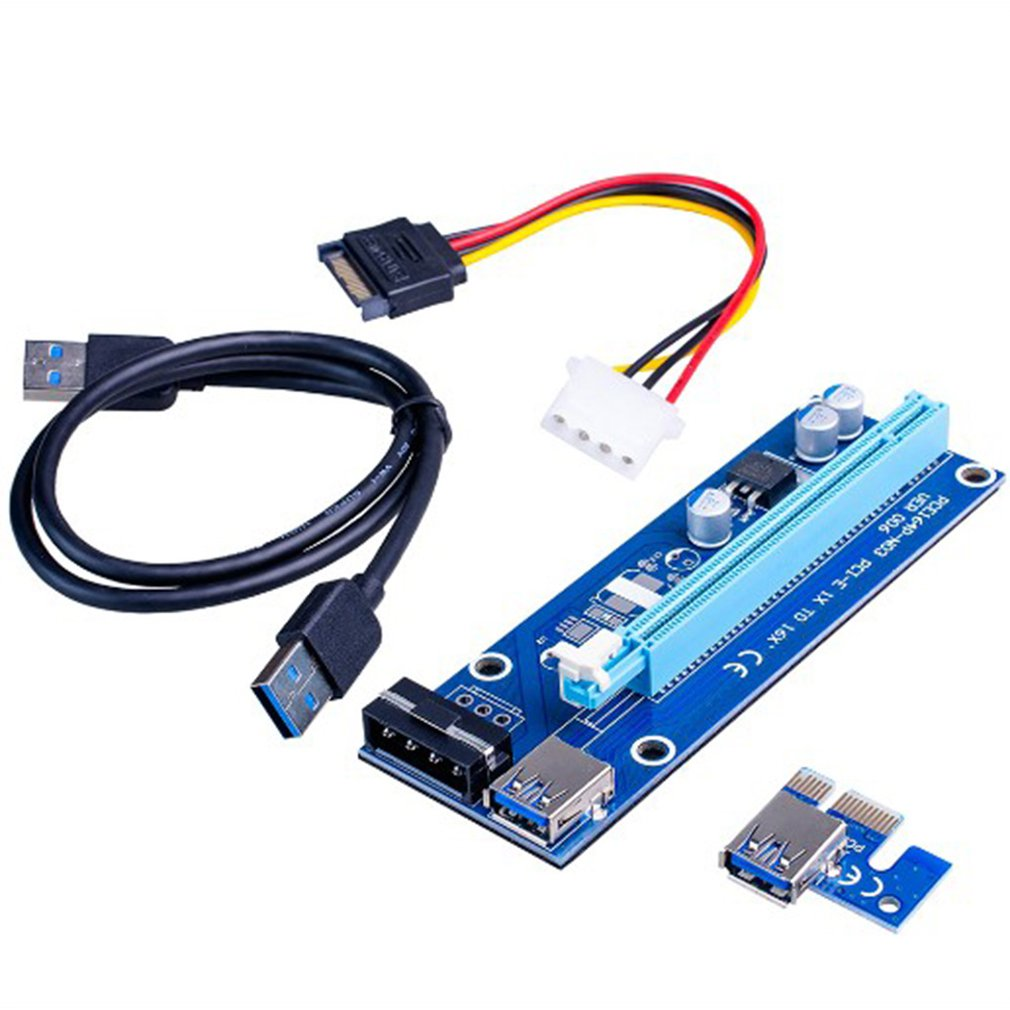 pcie x1 x4 extender adapter jumper for audio wireless lan usb cards pci e 1x to 4x pci express cables extension cable x4 female HOT4Pin USB 3.0 Mini PCI-E to PCIe PCI Express 1x to 16x Extender Riser Raiser Card Adapter SATA 6Pin Power Cable for BTC Mining