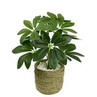 1pc artificial green leaf plant indoor outdoor fake flower leaf foliage bush home office garden decoration