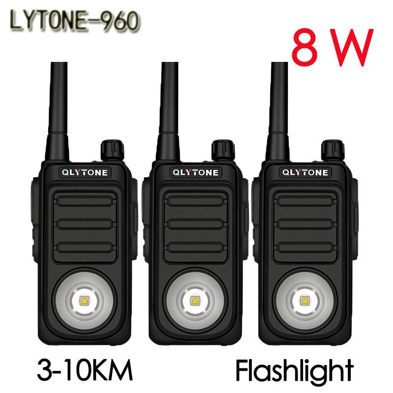 (3 piezas) LYT960 walkie-talkie de larga espera 8W inalámbrico de alta potencia mano civil profesional 10KM comunicador HF transceptor