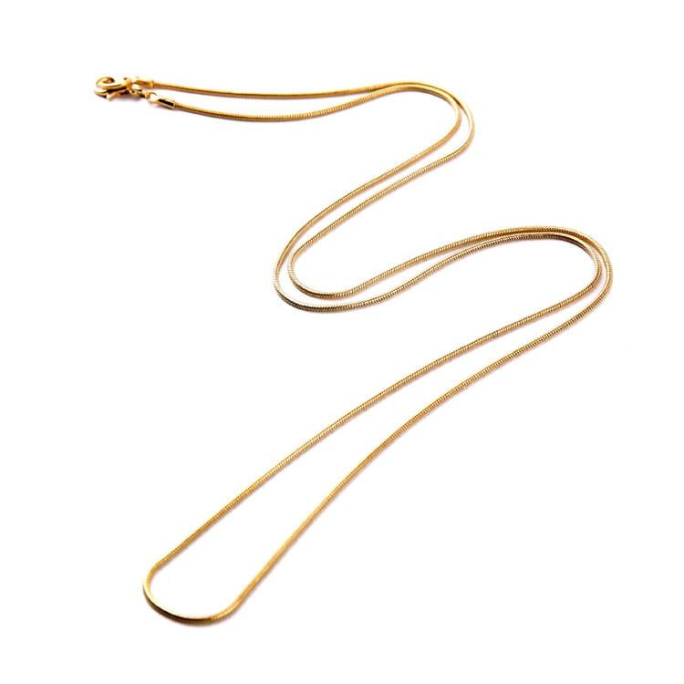 Collar largo de Color dorado de diseño Simple para mujer, accesorio de joyería para regalo de cumpleaños hecho a mano
