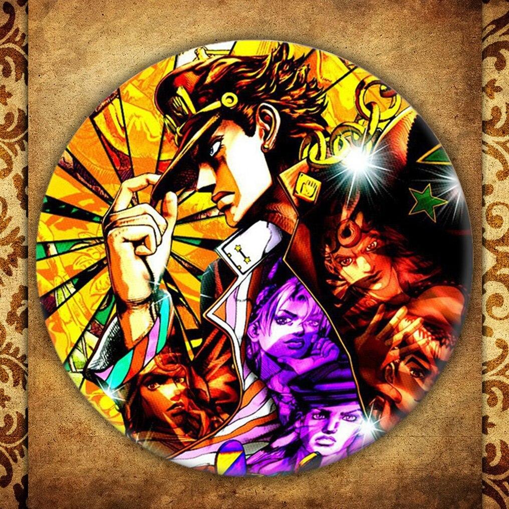 Hot Anime Jojo Bizarre Adventure Cosplay insignia de dibujos animados broche pin joyería colección regalo de graduación mochilas botón ropa