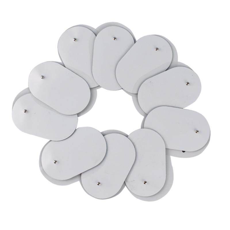10 Stuks Herbruikbare 3.5 Mm Plug Gel Tientallen Elektroden Voor Elektrische Massager Acupunctuur Pulse Ems Zenuw Spier Stimulator Massage