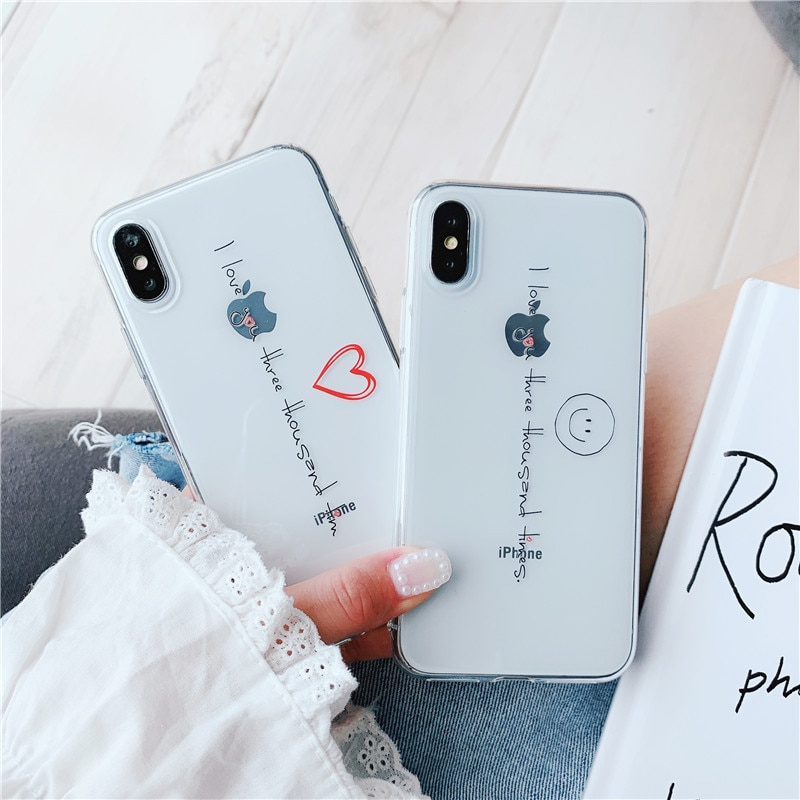 El amor 3000 veces iPhone X teléfono móvil casos XS Max/Xr/caso para iPhone X/7 p/6 mujer 6 hombre
