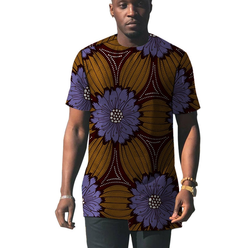 Asymmetric design mens Dashiki shirt Ankara outfit short sleeve shirt Africa fashion event wear man African print tops
