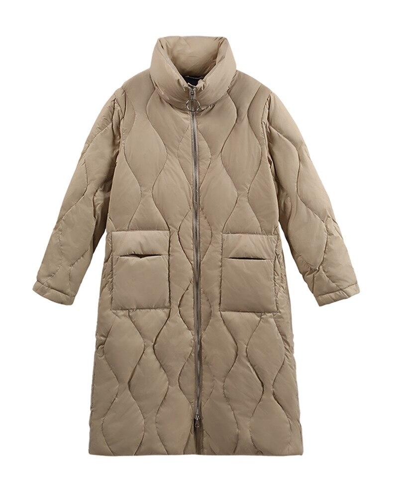 WYWAN الخريف خندق معطف ضئيلة واحد الصدر خندق معطف امرأة خندق معطف طويل النساء سترات زائد حجم معطف Femmino