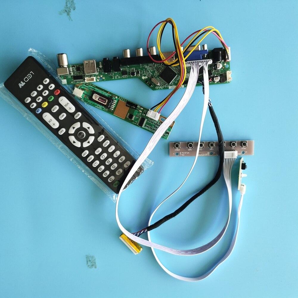 "Para LP154WP1 TLA2 señal Digital placa controladora de 30 pines resolución USB TV VGA AV HDMI 1 lamparas 15,4 ""módulo de interfaz 1440X900"