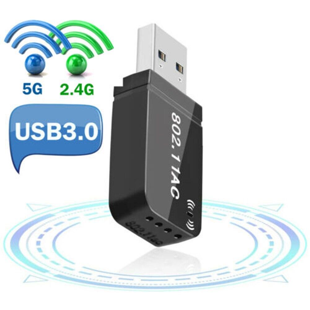 WiFi USB-adaptador inalámbrico ac1200mbps, Dongle USB 3,0, tarjeta de red portátil para...