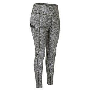 Womens Sports Tights Print Yoga High Waist Pants Pocket High Elastic Running Quick-drying Fitness Pants Elastic fitness leggings