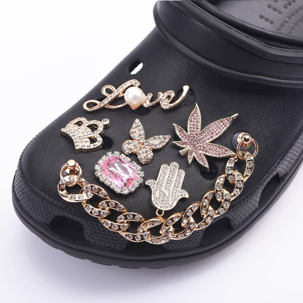 Брендовые дизайнерские аксессуары для украшения обуви, украшения для девочек, стразы