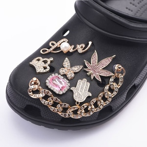 Brand Shoes Designer Croc Charms Bling Rhinestone  JIBZ Gift  For Clog Decaration