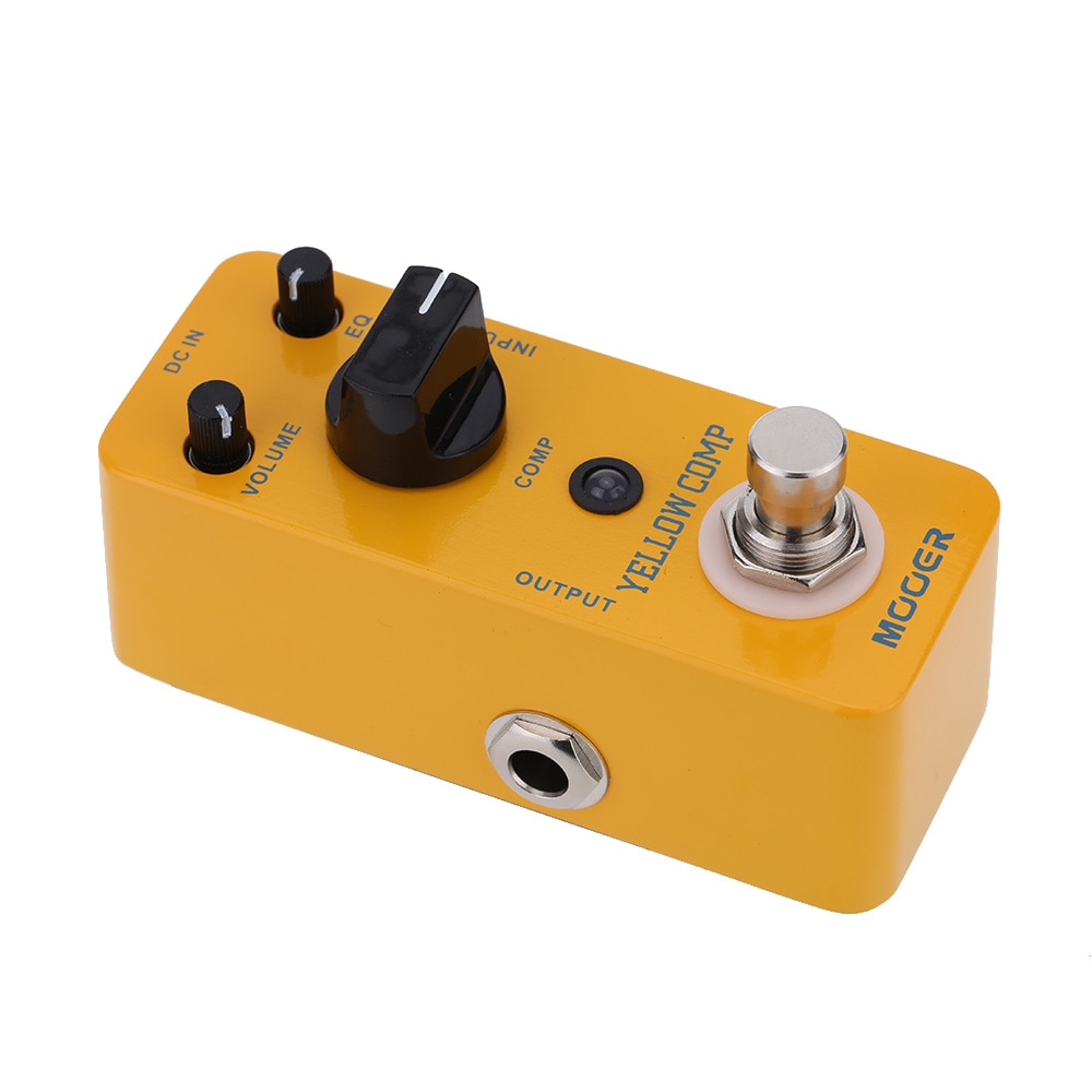 Mooer Guitar Electric Bass Pedal Comp Optical Compressor Guitar Effect Pedal Pedalboard Guitar Parts Mcs2 Yellow Comp Effector enlarge