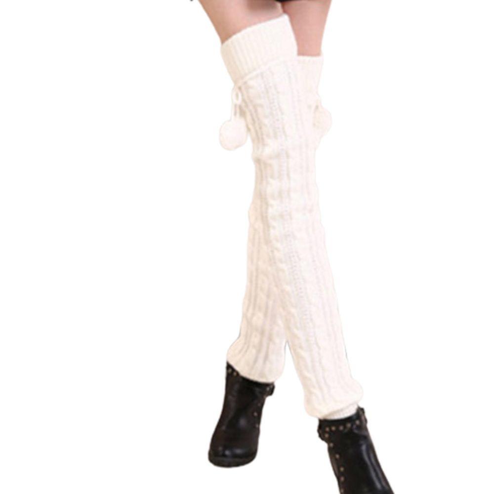 Белые сапоги, носки, гетры, носки, спортивные носки, носки, женские танцевальные носки, зимние теплые носки, вязаные Длинные