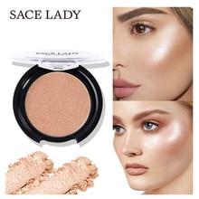 SACE LADY 6 colors /lot Highlighter Powder Face Makeup Contour Shimmer Illuminator Highlight Cosmetics