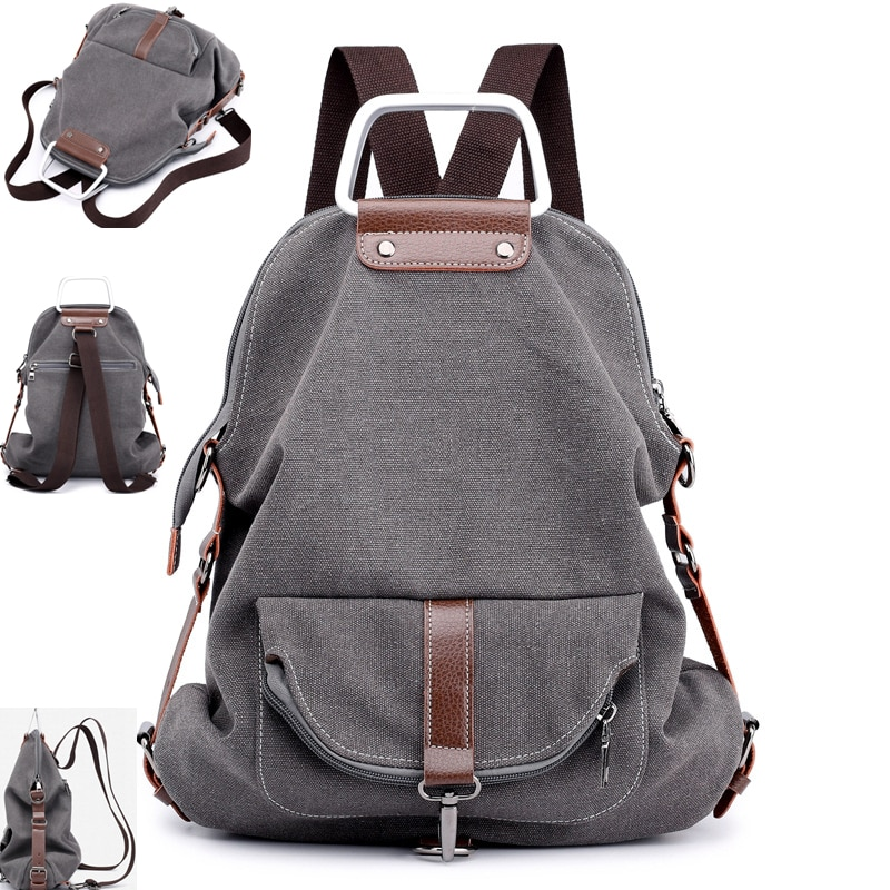 مكافحة سرقة المرأة على ظهره قماش مدرسة سيدة فتاة حقيبة يد طالب كلية حقيبة لابتوب السفر السببية حقائب كروسبودي Mochila Bolsas