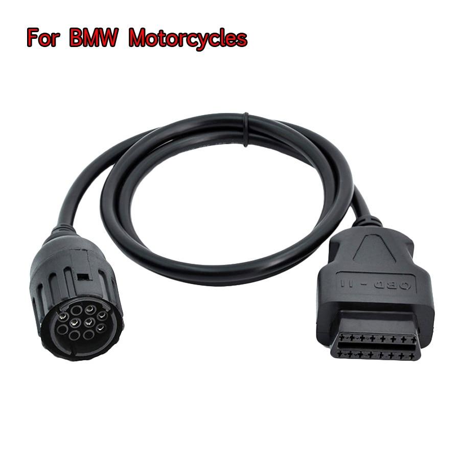 Cable ICOM D para motocicletas BMW, Cable de diagnóstico de la moto de 10 pines al adaptador OBD de 16 pines