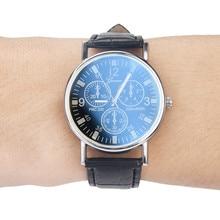 2020 New Fashion And New Blu Ray Glass Watch Neutral Quartz Simulates Wrist Watch Top Brand Men Watc