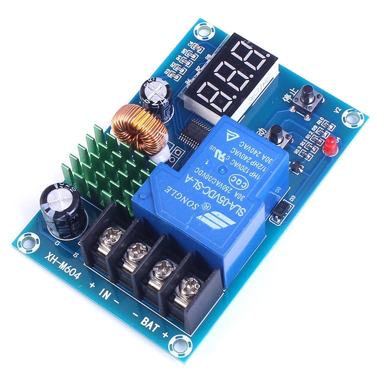 DC 6V-60V Programmable Digital Battery Charge Controller Protection Switch for Lead Acid Lithium Solar Panel Battery