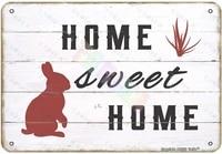 Lapin lapin doux pour la maison  decoration murale Vintage en metal  signe en etain  pour maison  chambre  ferme  magasin  Club  12x8 pouces