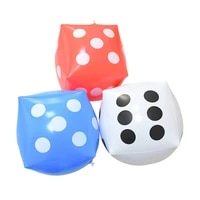 30cm inflatable dice balloon multi color blow up cube big dice stage game prop indoor and outdoor party swimming pool beach toys
