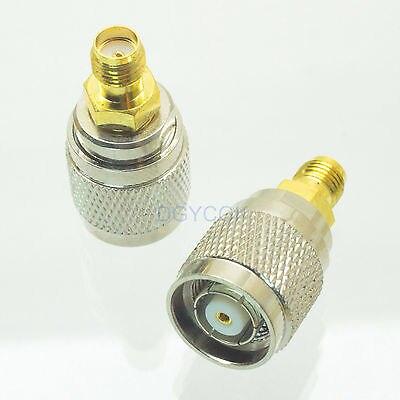 DHL/EMS 100 قطعة تحويل محول RP * TNC الذكور M إلى SMA الإناث F RF موصل لهوائي -h2