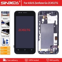 4 5 lcd assembly for asus zenfone go zc451tg lcd display touch screen with frame digitizer replacement free tools