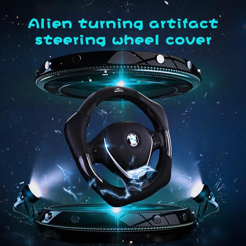 Yunzhe car accessories goods leather breathable Steering Wheel Cover for bmw e81 e46 20 e92 e90 etc